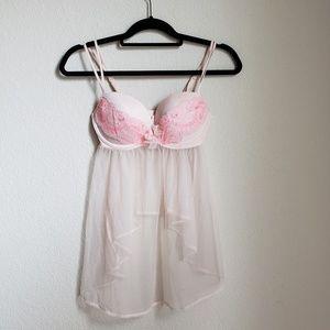 Victoria secret 34D lace babydoll lingerie